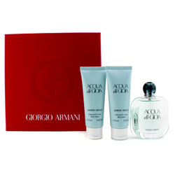 Acqua Di Gioia Coffret: Eau De Parfum Spray 50ml/1.7oz + 2x Body Lotion 75ml/2.5oz (Red Box) 3pcs