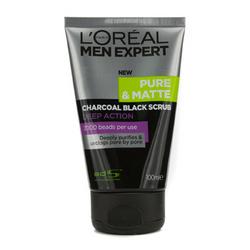 Men Expert Pure & Matte Charcoal Black Scrub  100ml/3.3oz