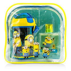 Minions Coffret: Eau De Toilette Spray 50ml/1.7oz + Water Bottle + Backpack  2pcs+1bag