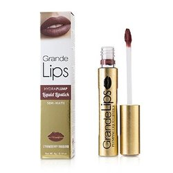 GrandeLIPS Plumping Liquid Lipstick (Semi Matte) - # Strawberry Rhubarb  4g/0.14oz