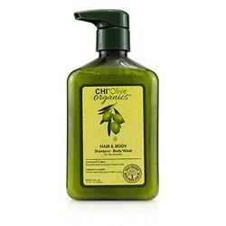 Olive Organics Hair & Body Shampoo Body Wash (For Hair and Skin)  340ml/11.5oz