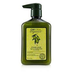 Olive Organics Styling Glaze (Light to Medium Hold - For All Hair Types)  340ml/11.5oz