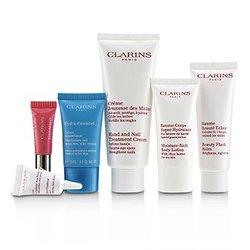 Week-End Essentials: Hand & Nail Cream+Beauty Flash Balm+Moisture-Rich Body+Eye Contour Gel+Hydra-Essentiel Cream+Lip  6pcs+1bag