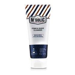 M'Solic Foam & Shave Cleanser - Remove Sebum, Dirt & Mild Shaving  150ml/5.07oz