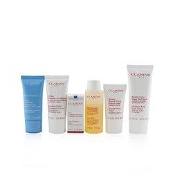 Head-to-Toe Moisturizing Essentials Set: Facial Cleanser+Eye Gel+Beauty Flash Balm+Hydra-Essentiel Cream+Body Lotion+Hand....  6pcs