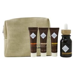 The Potion of Rebirth Set With Pouch: 1x Age Recover - Replumping Serum - 30ml/1oz + 1x Age Recover -  Replumping Rich Mask - 10ml/0.3oz + 1x Hydra Brightening Pure Radiance Rich Cleansing Milk - 10ml/0.3oz + 1x Regenerating & Velveting - Deep Massage