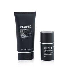Men's Grooming Duo Set: Deep Cleanser Facial Wash 150ml + Daily Moisture Boost 50ml  2pcs