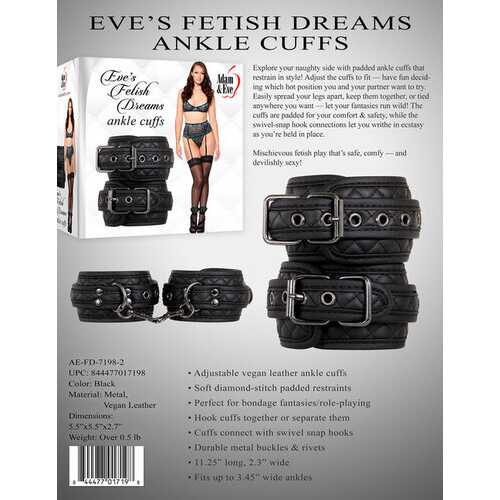 Eve's Fetish Dreams Ankle Cuffs