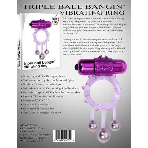 Triple Ball Bangin Vibrating Ring