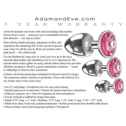 Pink Gem Anal Plug Set