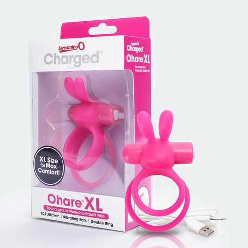 Charged Ohare XL Wearable Rabbit Vibe - Pink - Each