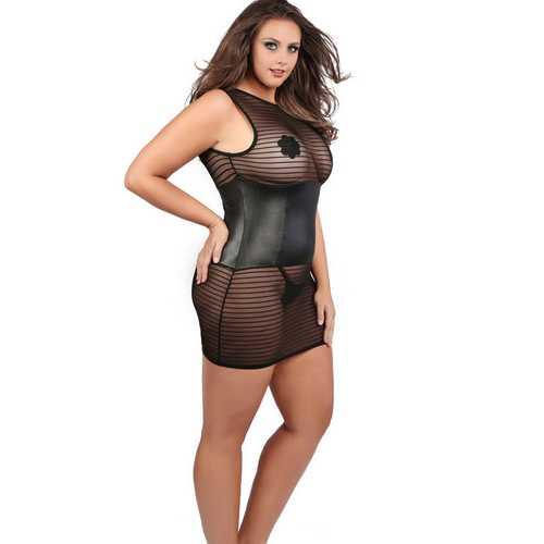 Roxanne Dress - Queen Size - Black