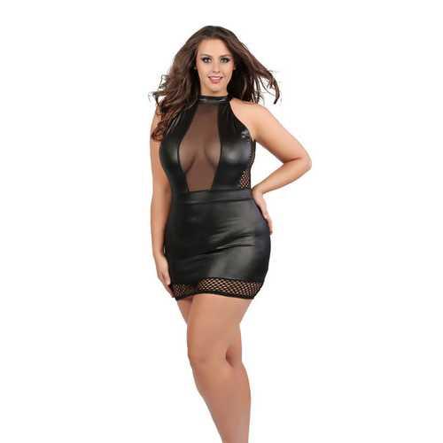 Nikki Hourglass Dress - Queen Size - Black