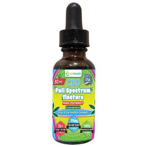 420 Health Pure Hemp Extract Oil - 300mg -  30ml - Bottle