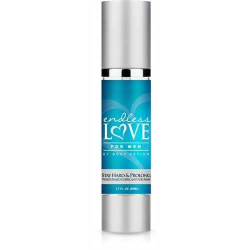 Endless Love for Men Stay Hard and Prolong Water Based Lubricant 1.7 Oz