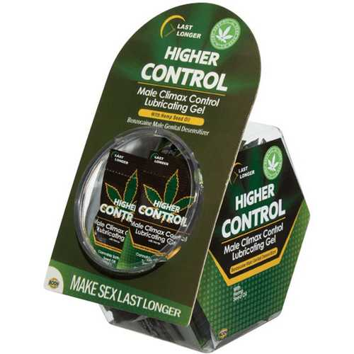 Higher Control Male Climax Control Lubricating Gel With Hemp - 50 Pc