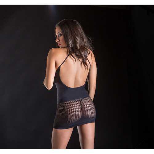 Spaghetti  Strap String Dress - One Size - Black