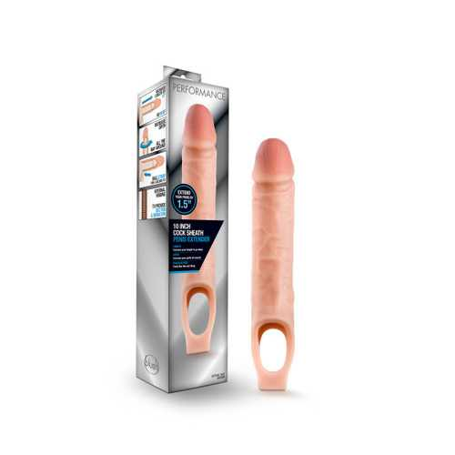 Performance - 10 Inch Cock Sheath Penis Extender - Vanilla