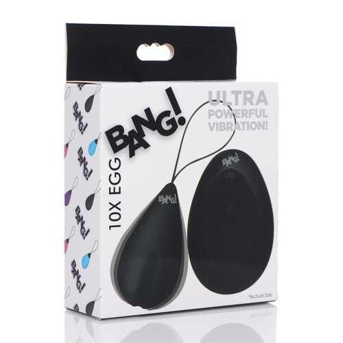 Bang - 10x Silicone Vibrating Egg - Black