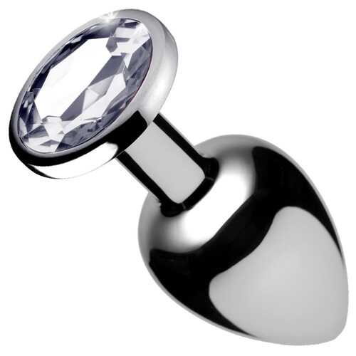 Clear Gem Anal Plug - Medium