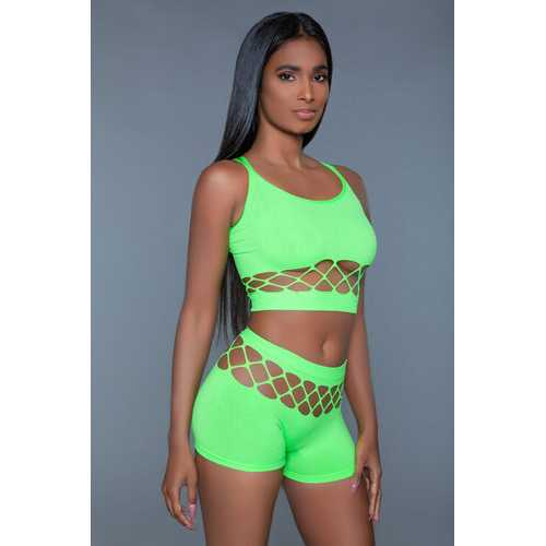 Palmer Set - Neon Green- One Size
