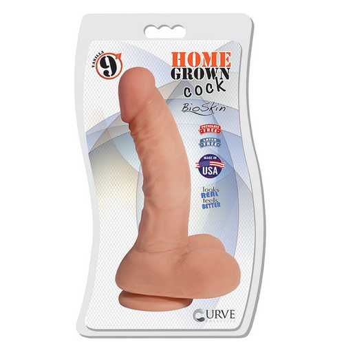 "9"" Home Grown Cock - Vanilla"