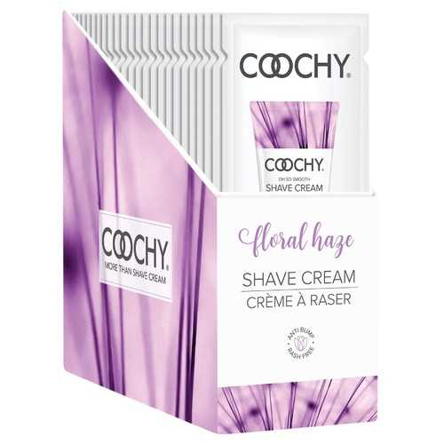 Coochy Shave Cream - Floral Haze - 15 ml Foils 24 Count Display