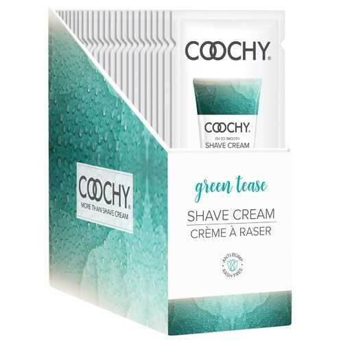 Coochy Shave Cream - Green Tease - 15 ml Foils 24 Count Display