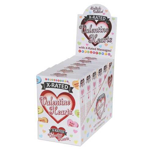 X-Rated Valentine's Heart Candy - 6 Count Display