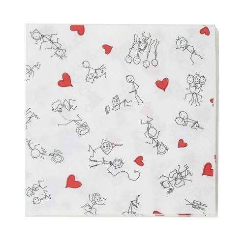 Stick Figure Style Napkins 8 Pack