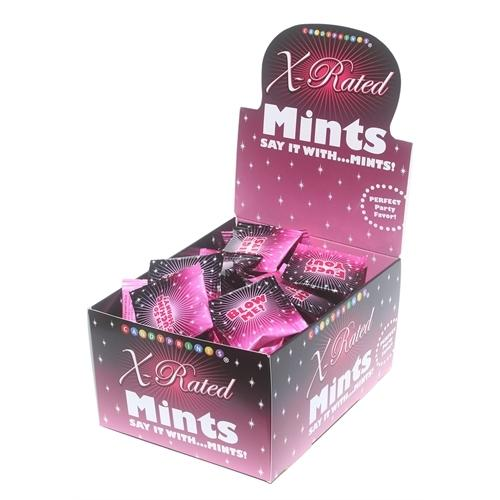 X-Rated Mints - 100 Piece p.o.p Display - 3.1g Bags