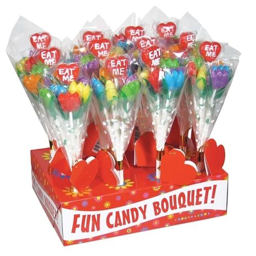 Eat Me! Tulip Candy Bouquet - 12 Piece Display