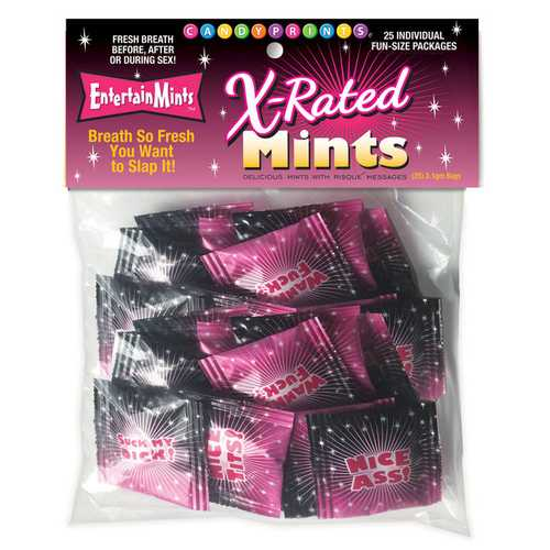 X-Rated Mints - Bag of 25 Individual Fun-Size Packages