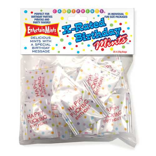 X-Rated Birthday Mints - 25 Individual Fun Size Packages