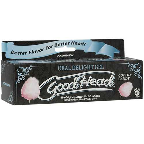 Goodhead - Oral Delight Gel - 4 Oz Tube - Cotton  Candy