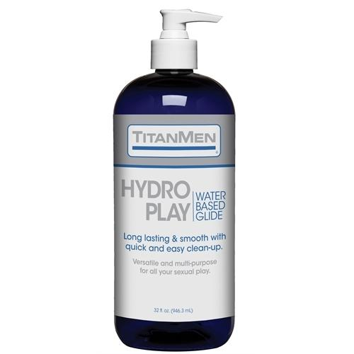 Titanmen Hydro Play Water Based Glide - Bulk - 32  Fl. Oz.