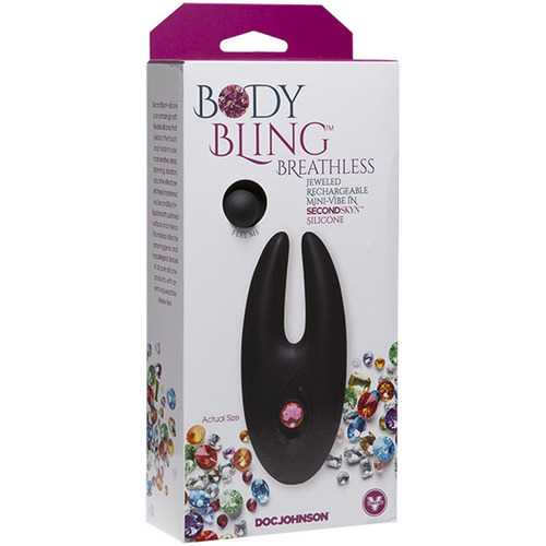 Body Bling - Clit Cuddler Mini-Vibe in Second  Skin Silicone - Pink