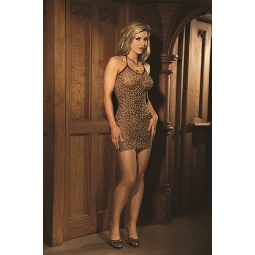 Leopard Slip Dress - Queen Size