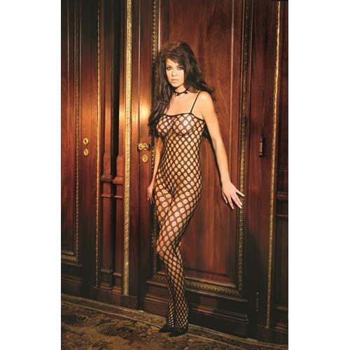 Crochet Body Stocking - Black - Queen