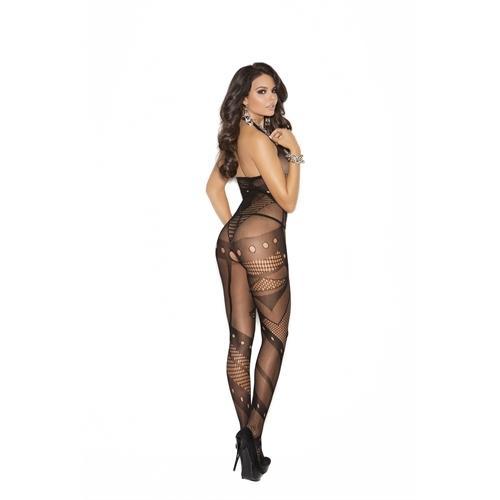 Crochet Net Body Stocking - One Size - Black