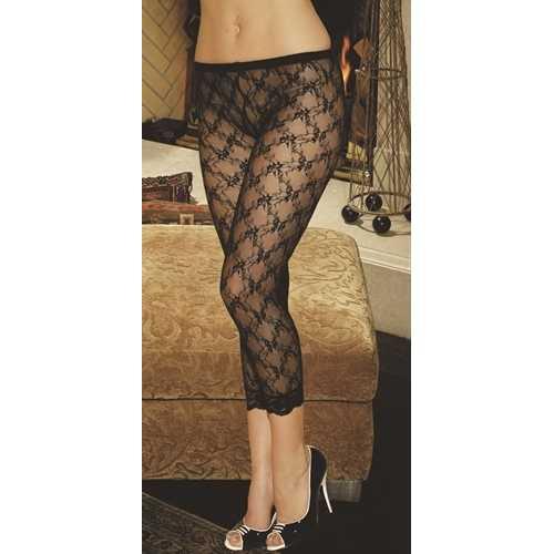 Lace Leggings Black