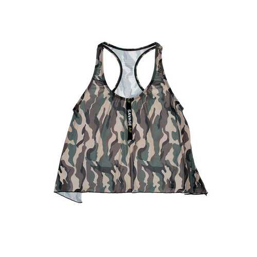 Savage Af Swing Top - Forest Camo - S/m