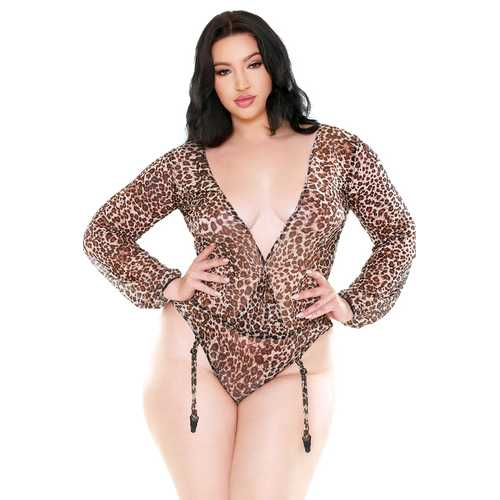 Shiva Long Sleeve Mesh Teddy - 1x2x