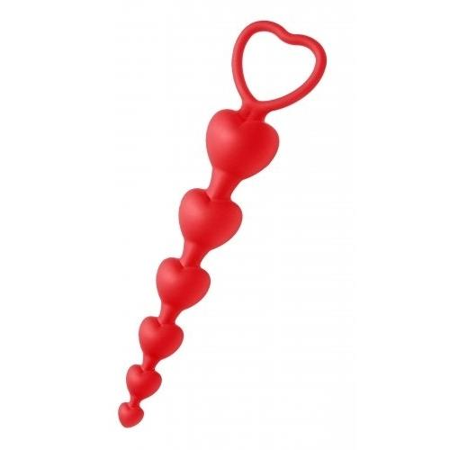 Sweet Hearts - Heart Shaped Silicone Anal Beads