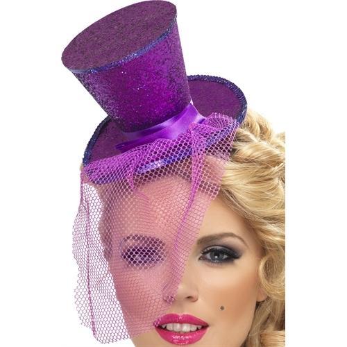 Mini Top Hat on Headband - Purple