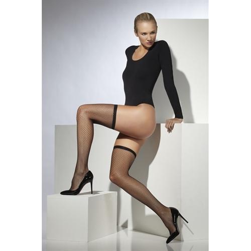 Lattice Net Stockings - Black
