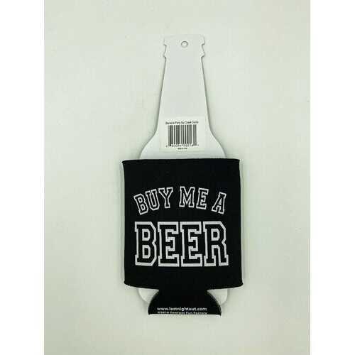 Bachelor Party Bar Crawl - Buy Me a Beer Koozie - Black