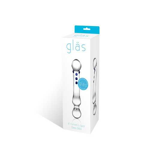 """Curved G-Spot 6"""" Glass Dildo"""