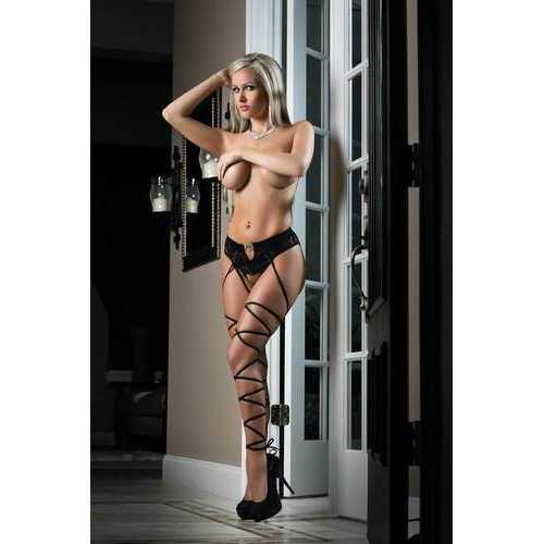 Basic Instinct Panty Stocking - One Size - Black