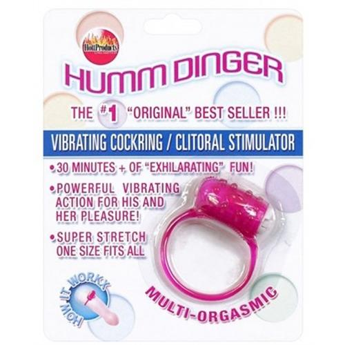 Humm Dinger Vibrating Penis Ring Clitoral Stiimulator - Purple